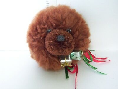 Red Chow Chow Dog Scissor Sculpted Headstudy Magnet Handcrafted OOAK Yarn
