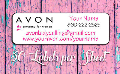 AVON Labels Personalized Brochure Labels 30 Per Sheet, Avon Representative label