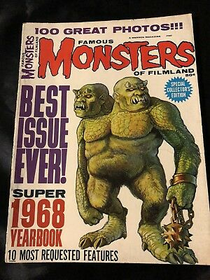 Famous Monsters Of Filmland Super 1968 Yearbook