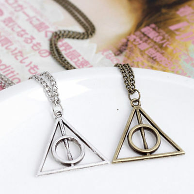 For Harry Potter Deathly Hallows Hot Metal Silver Gift Pendant Necklace