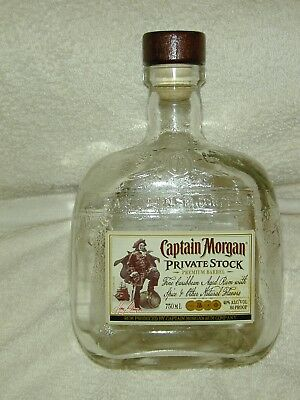 "(1) Captain Morgan Private Stock Premium Barrel 750Ml W/caps ""as Is""  Empty"