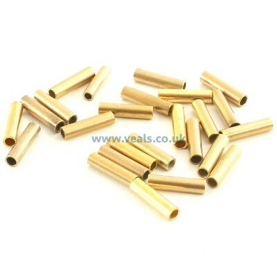 50 x 8mm 3mm Brass Crimps.Ideal for Wire or Mono Line.Special 3 for 2 Offer.