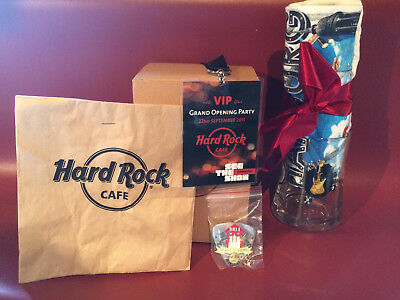 hard rock cafe, grand opening, hamburg, pin, shirt, VIP laminat, glas, RAR, OVP!