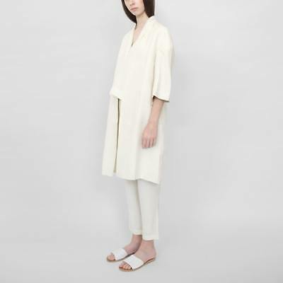 d4b2485c634 New 7115 By Szeki Womens Structured Linen Long Coat- Cream Ss16
