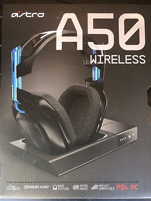 BRAND NEW ASTRO Gaming A50 Wireless Gaming Headset - Black/Blue - PS4 +PC GEN 3