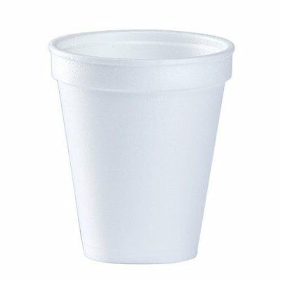 (Pack of 150) 8 Oz White Disposable Coffee Foam Cups Hot and Cold Drink Cup