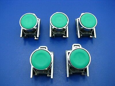 Telemecanique Green Push Button W/Collar (Lot of 5)  ZB4BA3 NEW