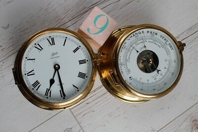 West German Schatz Ocean Qartz Brass Ships Clock and Barometer Set - MAKE OFFER