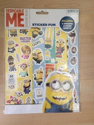 Despicable Me Minion Made Stickers- 5 sticker sheets