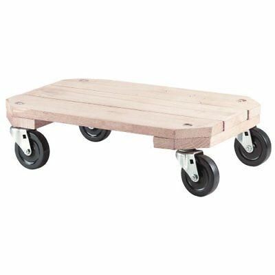 Shepherd Hardware 9854 Solid Wood Plant Dolly 12-Inch x 18-Inch 360-lb Load C...