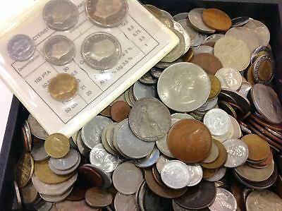 Wholesale Lot 5 1/2 Lbs of Mixed Foreign World Coins! - An Exceptional Value