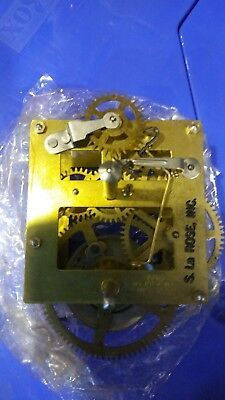 NOS S. La Rose time only wall clock movement