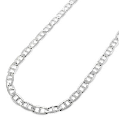 925 Sterling Silver 4.5mm Solid Mariner Anchor Link ITProLux Chain Necklace
