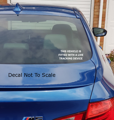live tracker fitted vinyl sticker-decal,car,van,safty,tracker,warning,security