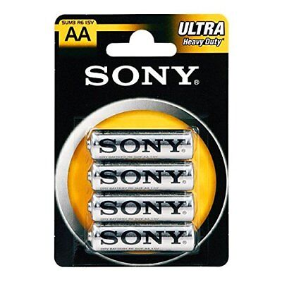 4x Sony AA Ultra Heavy Batteries pack of 4 Sony R6 1.5V Genuine Sony Batteries