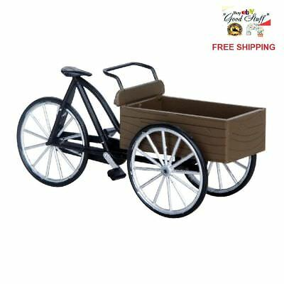 Lemax Village Figurine Accessory Street Vendor's Carry Bike Tabletop Decor Gift