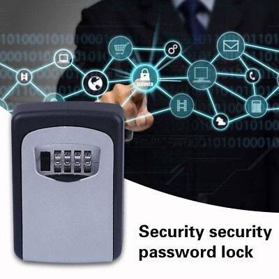 4-Digit Code Password Combination Lock Wall Mounted Key Safe Storage Lock Box