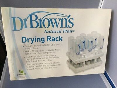 Dr Brown's Natural Flow Drying Rack BPA-Free. Holds 12 bottles & components