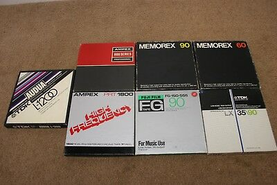 Vintage reel to reel tapes and boxes. Lot of 7