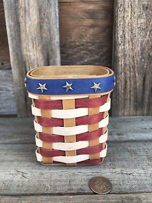 Longaberger One Of A Kind Prototype Red,white,blue Pencil Basket