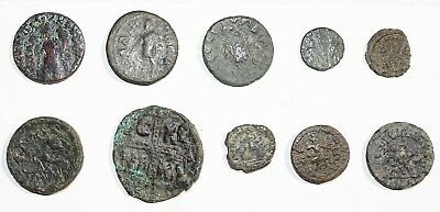 #1 LOT of 10 Mixed Ancient Coins (Roman, Greek, Byzantine and others)