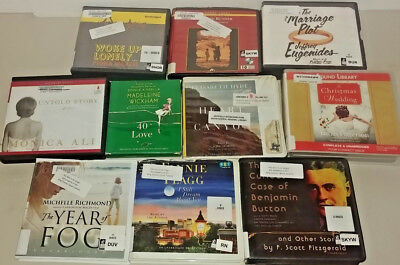 General Fiction Audio Books Lot of 10 on CD FREE SHIPPING Unabridged A-13