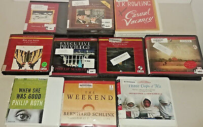 General Fiction Audio Books Lot of 10 on CD FREE SHIPPING Unabridged A-21
