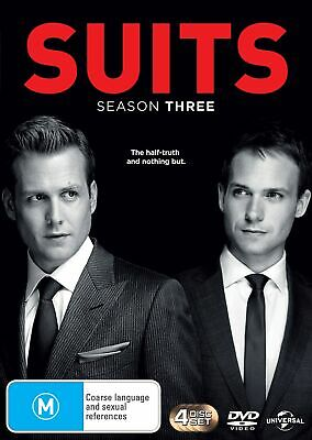 Suits Season 3 DVD Region 4 NEW
