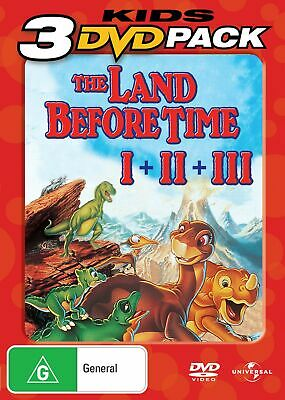 The Land Before Time 1-3 DVD Region 4 NEW