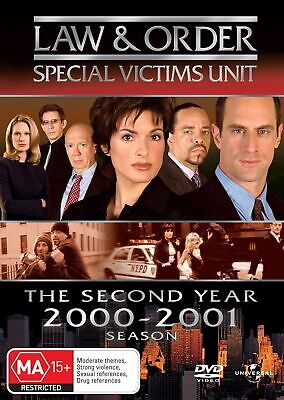 Law and Order Special Victims Unit Season 2 DVD Region 4 NEW