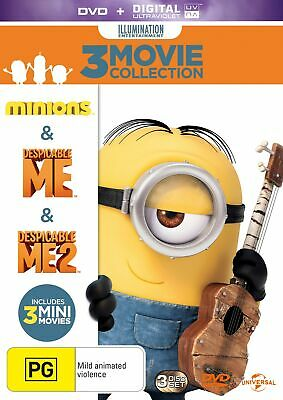 Despicable Me / Despicable Me 2 / Minions with Digital Download DVD Region 4