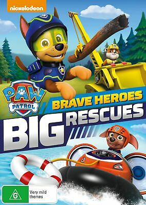 Paw Patrol Brave Heroes Big Rescues DVD Region 4 NEW