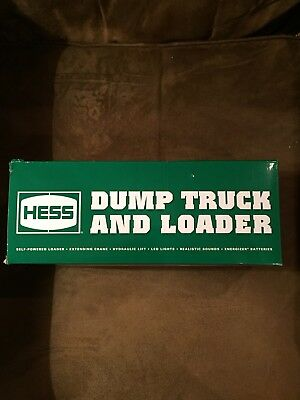 NIB 2017 Hess Toy Truck Dump Truck and Loader Free Ship NEW UNOPENED