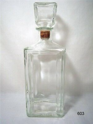 Vintage Seagram Glass Whiskey / Wine Decanter - Thatcher Mfg. Co.