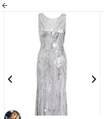 SILVER GREY SEQUIN prom dress! Sparkly and girly❤ QUIZ clothing ...