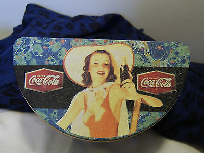HALF MOON COKE COCA COLA TIN - The Drink Enjoyed Year Round - Boite Demi Lune