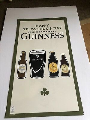 Guinness Dublin Ireland St Patrick's Day Posters 23 x13 Lot Of 2 RARE PROMO NEW!