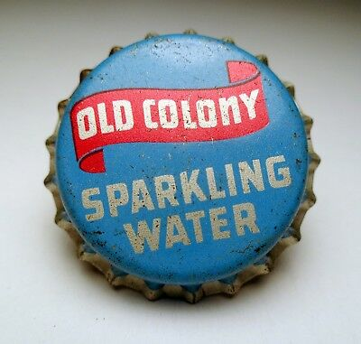 Vintage Unused OLD COLONY SPARKLING WATER Cork Lined Soda Bottle Cap