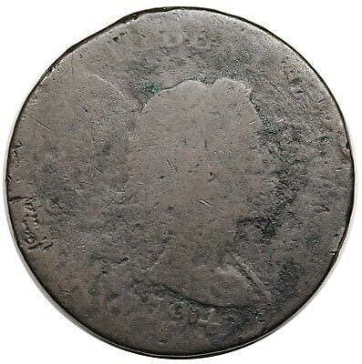 1794 Liberty Cap Large Cent, Head of '93, scarce S-20b, R.4, Poor-Fair