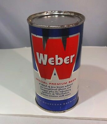 WEBER Blue Vintage Flat Top Beer Can