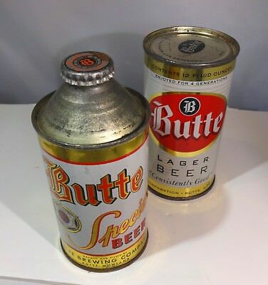 BUTTE Vintage Cone Top Beer Can