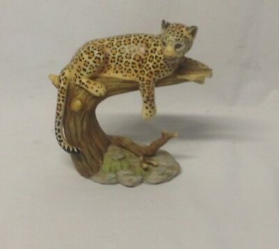 """Home Interior Homco""""Leopard's Domain""""Figurine""""Hand Painted Porcelain"""