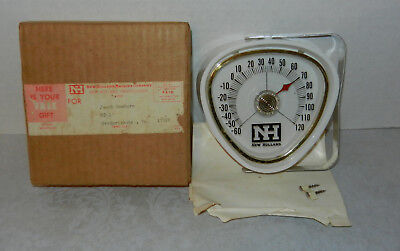 NOS 1960s New Holland Farm Tractors Machines Advertising Thermometer NIB NICE!