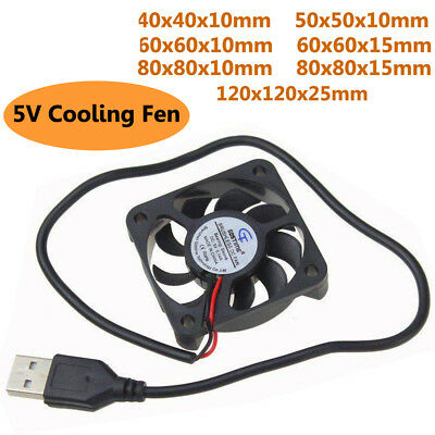 DC 5V USB Cooling Cooler Fan Computer Silent Quiet Brushless Sleeve Bearing Fan