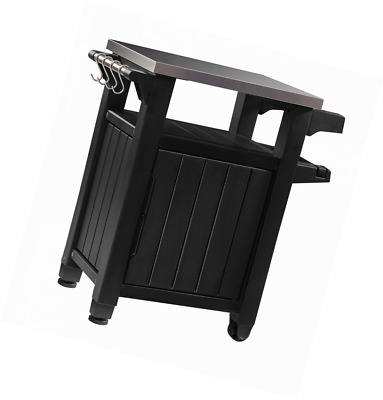 Keter Unity Indoor Outdoor BBQ Entertainment Storage Table / Prep Station  With M