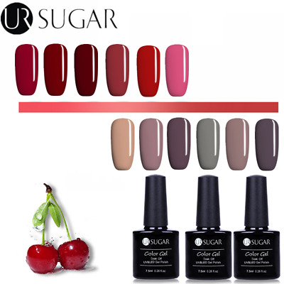 24Colors UV Gel Nail Polish Soak Off Red Gray Gel Varnish  DIY UR SUGAR
