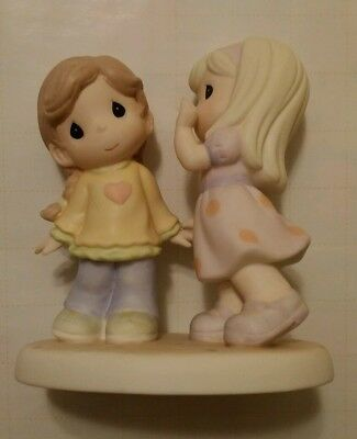 "Precious moments ""Friends listen with their hearts "" porcelain figure"