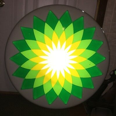 Lighted Bp Helio Sign