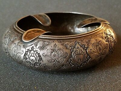 Ornate 84 Sterling Silver Ash Tray - Persian, Arabic,or Egyptian - Antique?