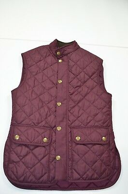 NWT Men's Barbour Lowerdale Quilted Vest Merlot Purple Sz S Small